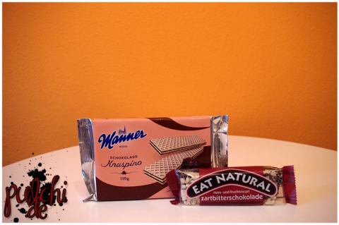 Manner Knuspino Schokolade || Eat Natural Zartbitterschokolade mit Cranberrys und Macadamianüssen