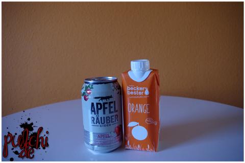 Apfel Räuber Cider Apfel || beckers bester Direktsaft Orange