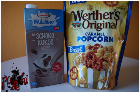Hochwald Milchbar Typ Schoko-Kokos | Werther's Original Caramel Popcorn Brezel