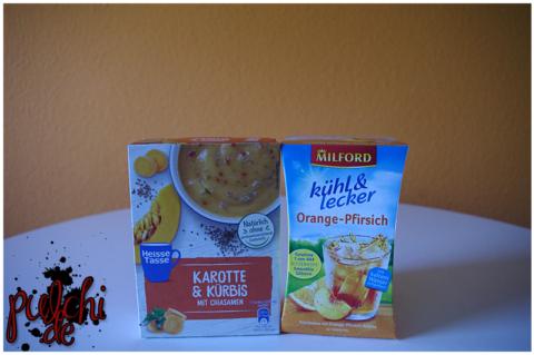 Heisse Tasse Karotte & Kürbis mit Chiasamen | MILFORD kühl & lecker Orange-Pfirsich