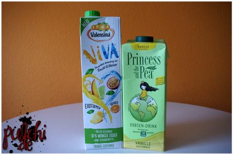 Valensina VIVA Orange-Exotikmix || PRINCESS AND THE PEA Erbsen-Drink Vanille