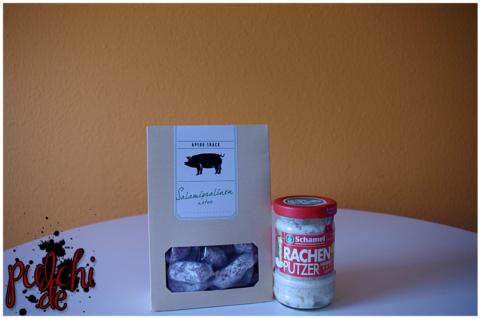 Apero Snack Salamipralinen natur/luftgetrocknet || Schamel Rachenputzer Meerrettich
