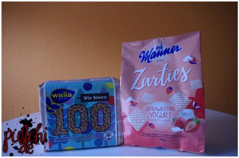 Wasa 100 || Manner Zarties Strawberry Yogurt