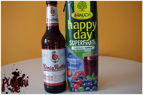 König Rotbier || Rauch Happy Day Superfruits Heidelbeere + Acerola