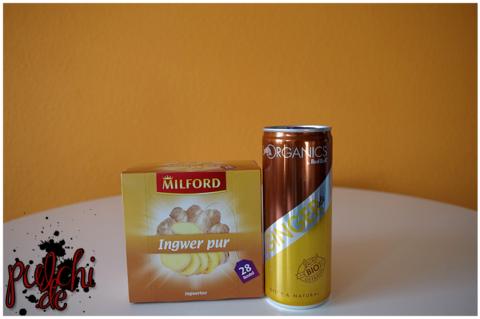 MILFORD Ingwer pur || Red Bull ORGANICS Ginger Ale
