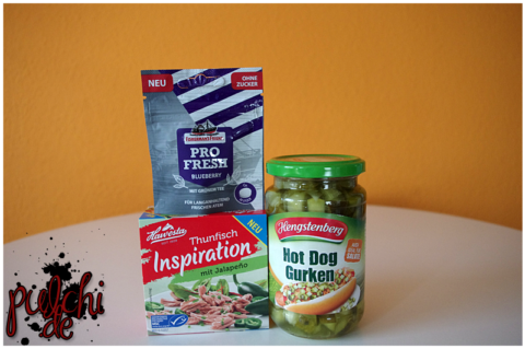 ProFresh Blueberry by Fisherman's Friend || HAWESTA Thunfisch Inspiration mit Jalapeño || Hengstenberg Hot Dog Gurken