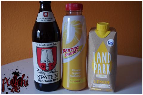Spaten Münchner Hell || D by DEXTRO ENERGY Zitrone || Landpark Bio