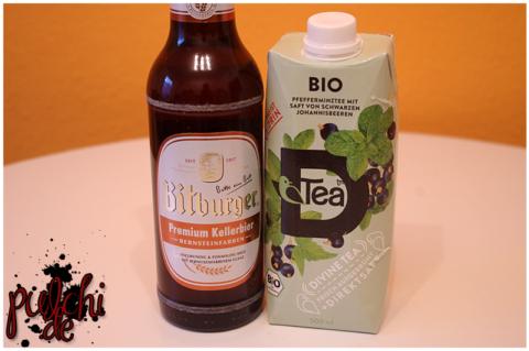 Bitburger Premium Kellerbier || BIO D'Tea Pfefferminze Schwarze Johannisbeere