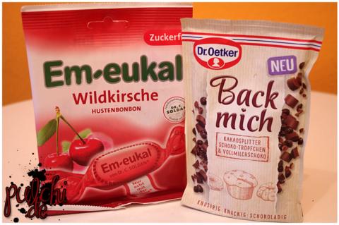Em-eukal Wildkirsche || Dr. Oetker Back mich Kakaosplitter, Schoko