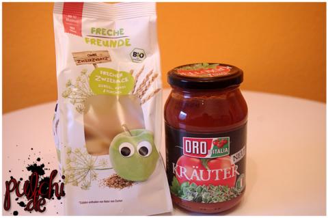 Freche Freunde Zwieback Dinkel || ORO d' Italia Tomatensauce mit Kräutern