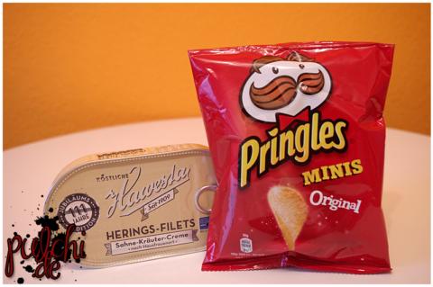 Hawesta Heringsfilets in Sahne || Pringles Minis Original