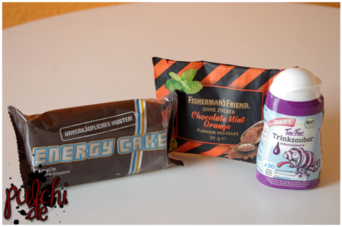 Energy Cake Schoko || Fisherman's Friend Chocolate Mint Orange || TeeFee Trinkzauber Johannisbeere