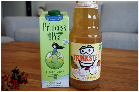 PRINCESS AND THE PEA® Erbsendrink Original mit Ballaststoffen || Klindworth TRINKSTE! Rooibos mit Orange & Ananas