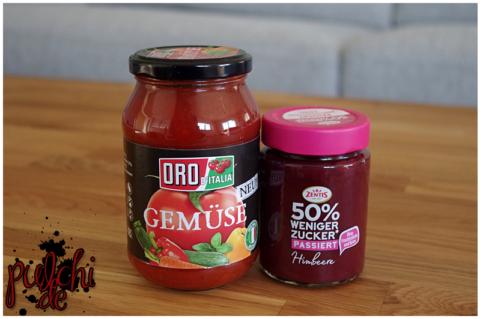 ORO d' Italia Tomatensauce mit Gemüse || Zentis 50% weniger Zucker passiert Himbeere