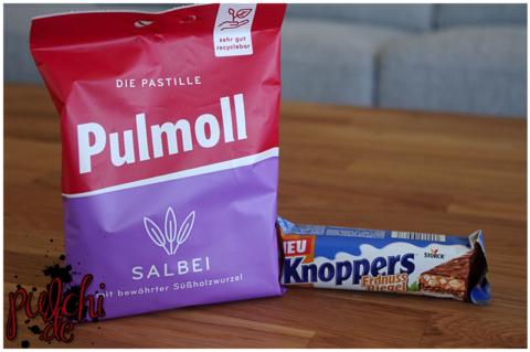 Pulmoll Salbei || Knoppers ErdnussRiegel