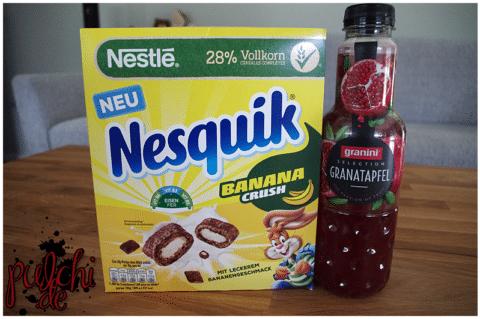 Nestlé NESQUIK BananaCrush || granini Selection Granatapfel