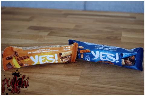 YES! Dunkle Schokolade, Banane & Pekannüsse || YES! Dunkle Schokolade, Meersalz & Mandel