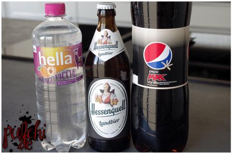 hella mango picchu || Hessenquell Landbier || Pepsi MAX Vanilla