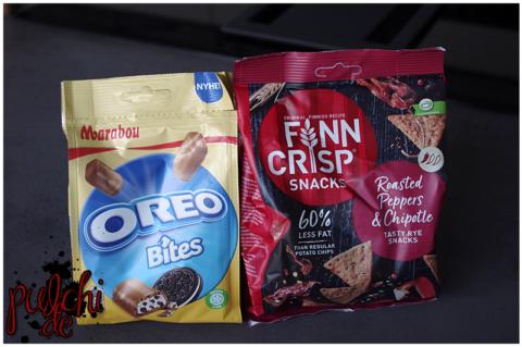 Marabou Oreo Bites || Finn Crisp Snacks Roasted Peppers & Chipotle