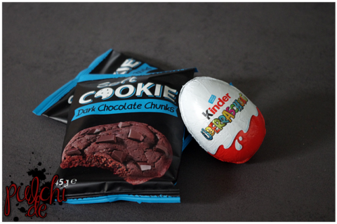 Soft COOKIE Dark Chocolate Chunks || kinder Überraschung