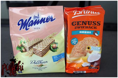 Manner Vollkorn Waffel || Brandt Genusszwieback Kokos
