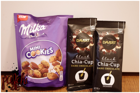 Milka Mini Cookies || Black Chia Cup Dark Chocolate