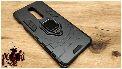 Mobigear Stoßfestes magnetisches Schutzringhalteretui Schwarz OnePlus 8