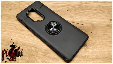 Mobigear Case Metallring Schwarz OnePlus 8