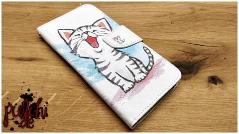Mobigear farbiges Zeichenmuster Brieftasche Fall Kätzchen OnePlus 8