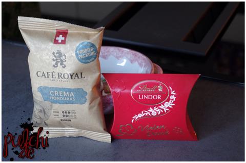 Café Royal Crema Honduras || Lindt LINDOR Mini-Kissen mit Botschaften