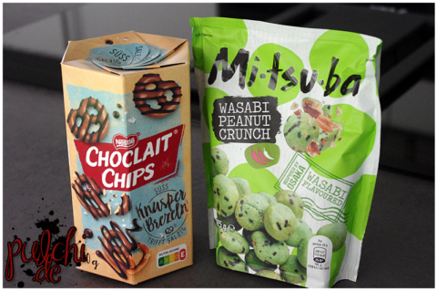 Nestlé CHOCLAIT CHIPS Knusperbrezeln || Mitsuba Wasabi Peanut Crunch
