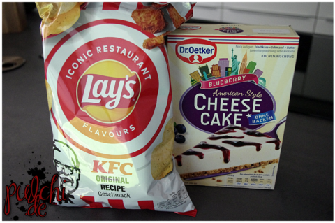 Lay's Iconic Restaurant Flavours: KFC Original Recipe || Dr. Oetker Cheesecake American Style Blueberry