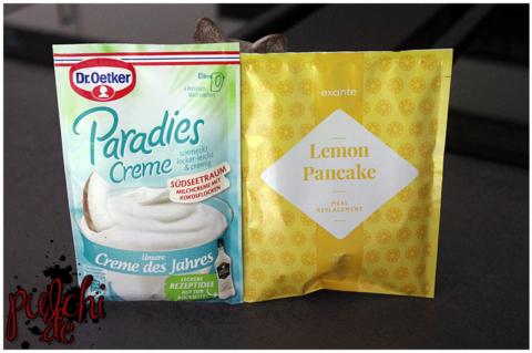 Dr. Oetker Paradies Creme des Jahres Südseetraum || exante Zitronen Pancakes