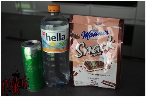 Red Bull Summer Edition || hella orange || Manner Snack Minis Milch-Schoko Schnitten