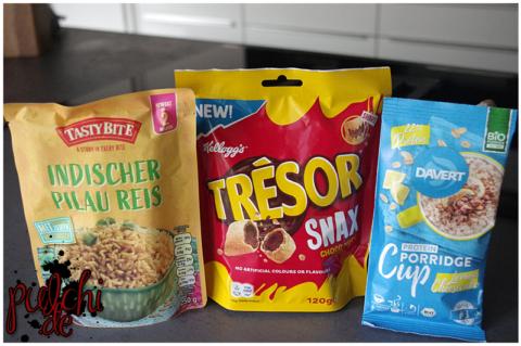 Tasty Bite ® Indischer Pilau Reis || TRÉSOR® SNAX Choco Nut || Davert Protein Porridge