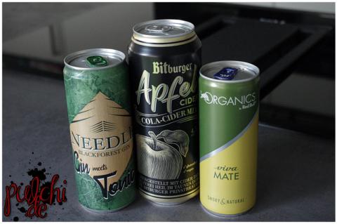 Needle Blackforest Gin meets Tonic || Bitburger Cola-Cider Mix || ORGANICS by Red Bull Viva Mate